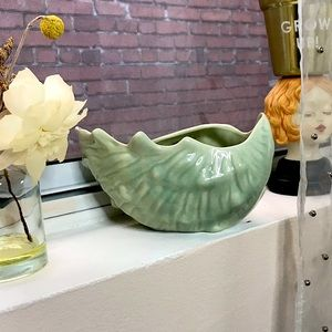 Vintage Shell Shaped Planter Dish